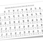 Ecrire en Braille