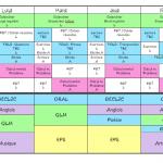 Emploi du temps CP-CE1-CE2 2018-2019